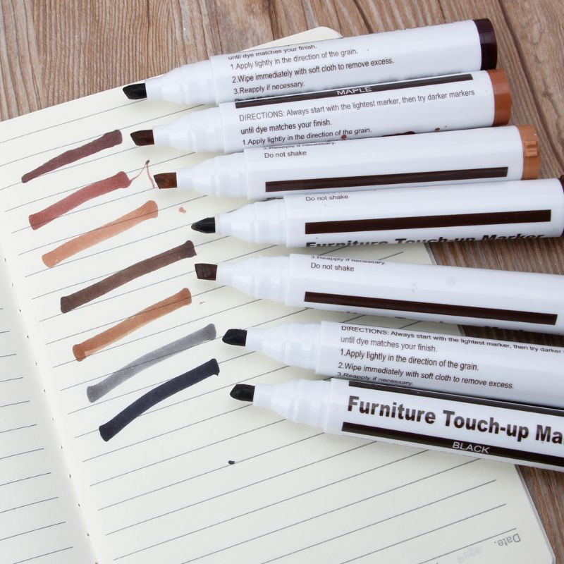 Купить с кэшбэком 17Pcs/Set Furniture Repair Kit Markers Filler Sticks Floor Furniture Scratches Paint Pen Wood Composite Repair