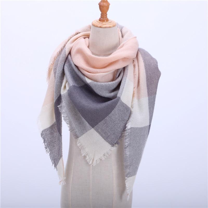 2019 New Spring Winter Women's Scarf Soft Plaid Warm Cashmere Scarves High Quality Female Shawls and Pashmina Lady Bandana Wraps