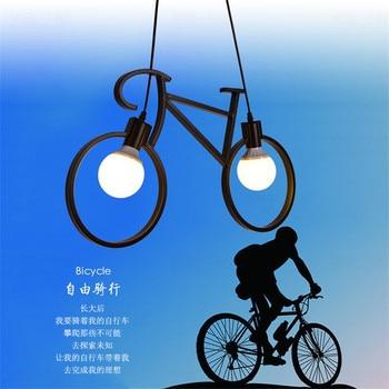 Industrieël Retro Ijzeren Fiets Hanglamp 5