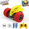 DEERC RC Stunt Car 2.4G 4CH Stunt Drift Car Remote Control Roll Car 360 Degree Rotation Flip With Led Light Kids Toys Boy's Gift