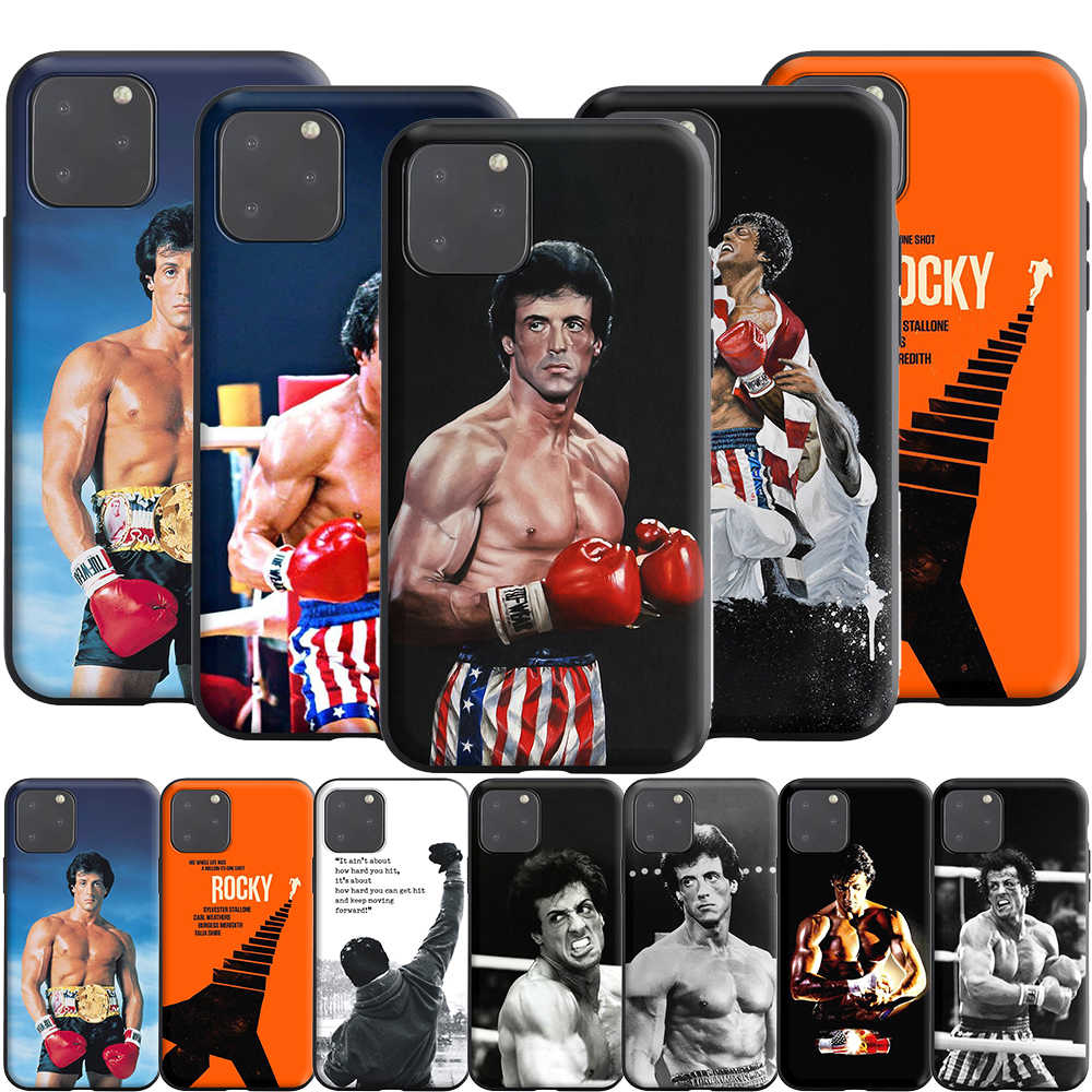 Rocky balboa silicone estojo para apple iphone 11 pro xs x xr max 8 7 6 s 6 plus se 5S