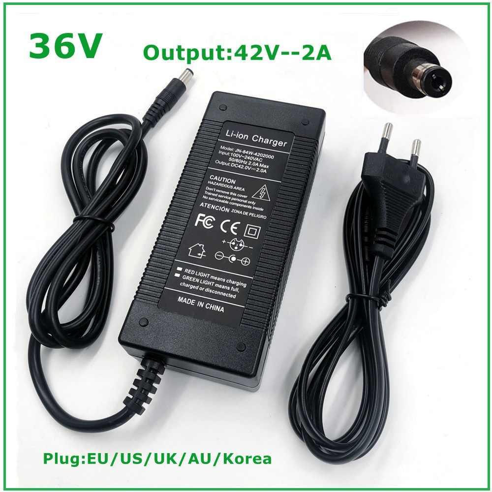 Elektrofahrrad-Lithium-Akku HKY 42V 2A Netzteil Ladegerät AC Adapter