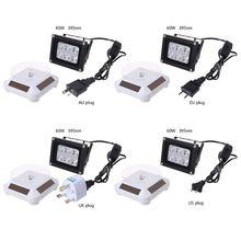 60 Вт 395nm УФ светодиодный светильник для полимеризации, лампа на солнечных батареях, поворотный стол, 3D-принтер, часть E65A