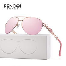 FENCHI femmes lunettes De soleil design tendance marque Vintage rose miroir lunettes De soleil dames oeil De chat lunettes Oculos Feminino De Sol