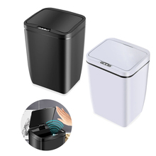 Automatic Touchless Trash Can Intelligent Induction Motion Sensor Garbage Button 0.3 Second Poubelle