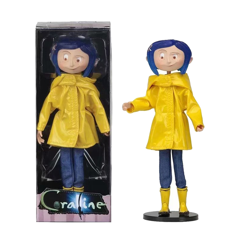 Movie The Secret Door Coraline Ghost Mom Caroline Raincoat Pvc Action Figure Model Toy Doll Kids Christmas Gift 7 Inch Action Toy Figures Aliexpress