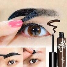 Крем-краска для увеличения бровей долгостойкая Татуировка хна оттенок пигментные глаза профессиональный макияж коричневый гель для брове...