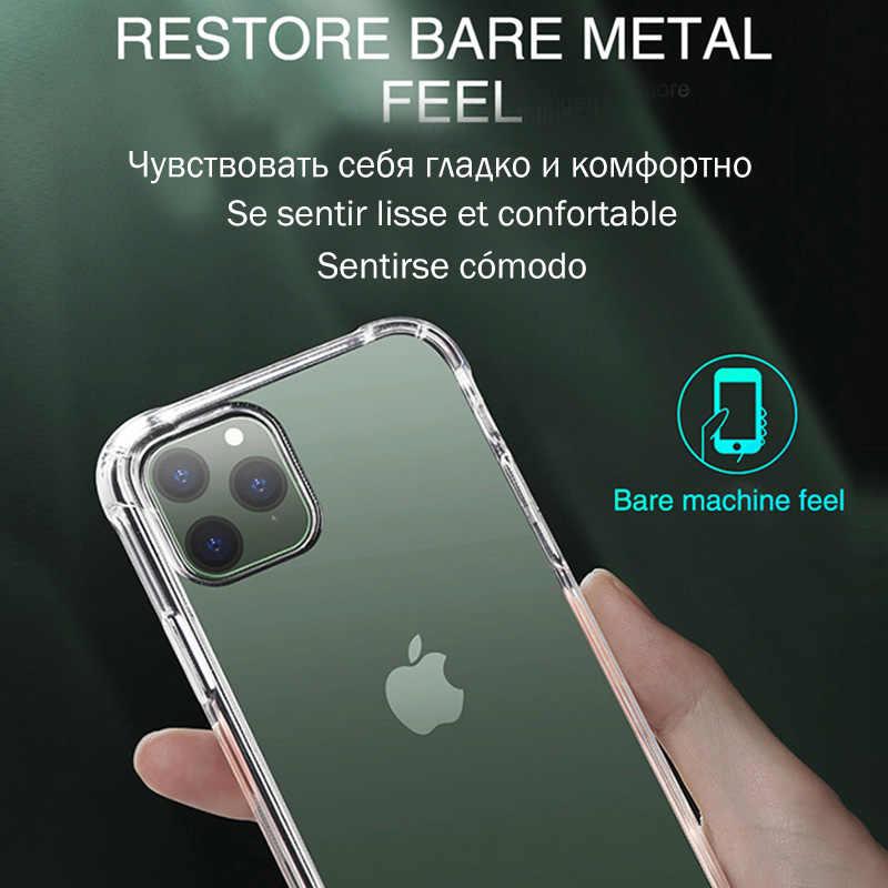 فاخر شفاف صدمات حقيبة لهاتف أي فون 11 برو X Xr Xs ماكس لينة بولي TPU غطاء من السيليكون آيفون 6 6s 7 8 Plus 5 5s SE الغطاء الخلفي