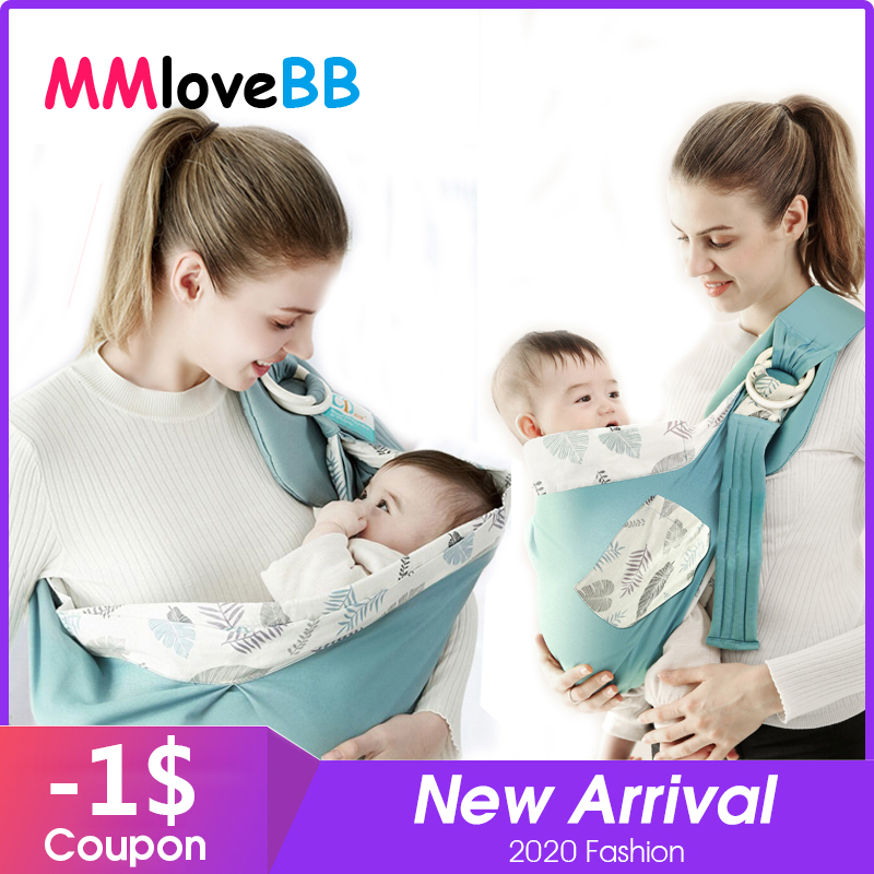 Mmlovebb Baby Carrier Soft-Sling Kangaroos Newborns Front-Facing Adjustable for Scarf title=