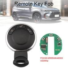 433Mhz 3 Buttons Remote Smart Car Key with ID46 Chip KR55WK49333 Fit for BMW Mini New qcontrol car remote smart key 433mhz id46 chip suit for hyundai santa fe ix45 vehicle control alarm door lock