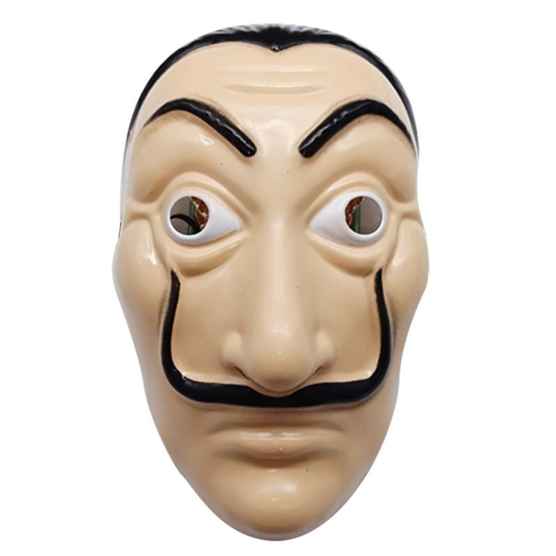 2019 New Paper House Party Beard Masks Dali Plastic Cosplay Masks Halloween Funny Masquerade Mask