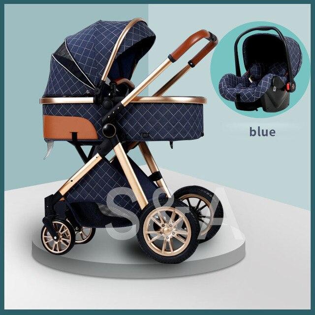 Transporte rápido frete grátis frete grátis carrinho de bebê alta paisagem nova 3in1 carrinho de bebê em 2021 2