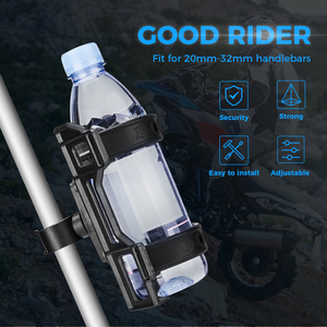 Image 2 - Motorcycle Water Bottle Drink Cup Holder Beverage For BMW R1200GS ADV F800GS F700GS CRF1000L Africa Twin CRF1000 25MM Mount