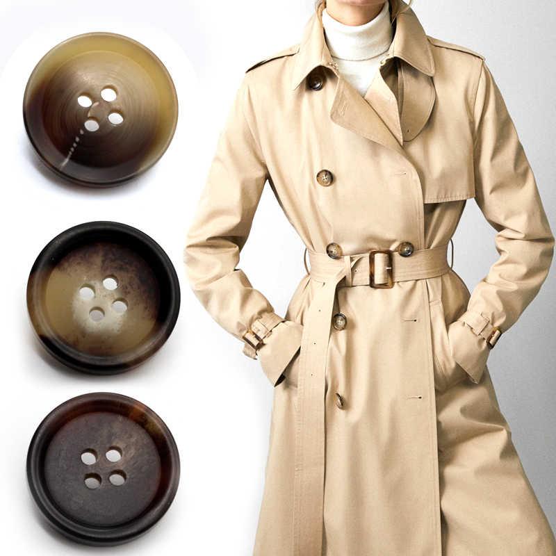 ใหม่ 20pcs เรซิ่น 4 หลุมปุ่มเย็บอุปกรณ์เสริมขนาดที่สมบูรณ์แบบสำหรับเสื้อผ้าตกแต่งปุ่มพลาสติกทำด้วยมือ DIY