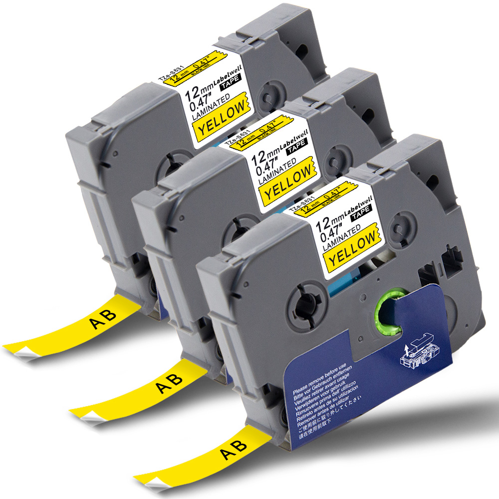 """6PK TZe231 12mm 0.47/""""Label Tape Compatible for Brother P-Touch PT-1890C PT-D210"""