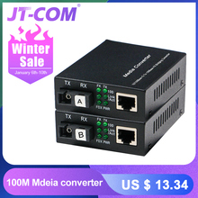 1 Pair Optical Fiber Media Converter 10/100M Singl