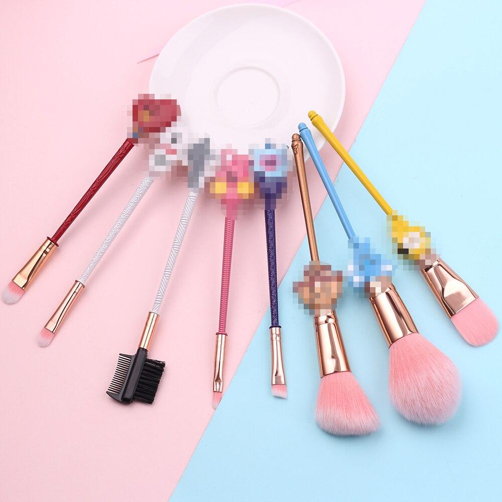 Brochas de Maquillaje de imagen de dibujos animados Pop conjunto de Brochas de estilo coreano Maquillaje en polvo base colorete sombra de ojos cepillo herramienta de belleza