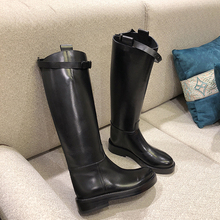 Winter Shoes Long-Boots High-Heel Botas New-Design Genuine-Leather European Black Fashion