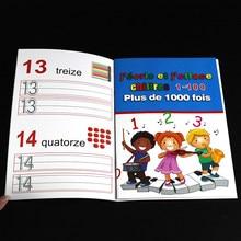 3-8 crianças francês copybook para caligrafia número/carta livro para criança palavra escrita reutilizável aprendizagem prática livro