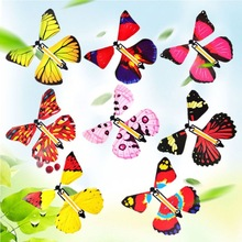 10/20PCS Flying in the Book Fairy Rubber Band Powered Wind Up Great Surprise Birthday Wedding Card Gift Butterfly Card Magic Toy