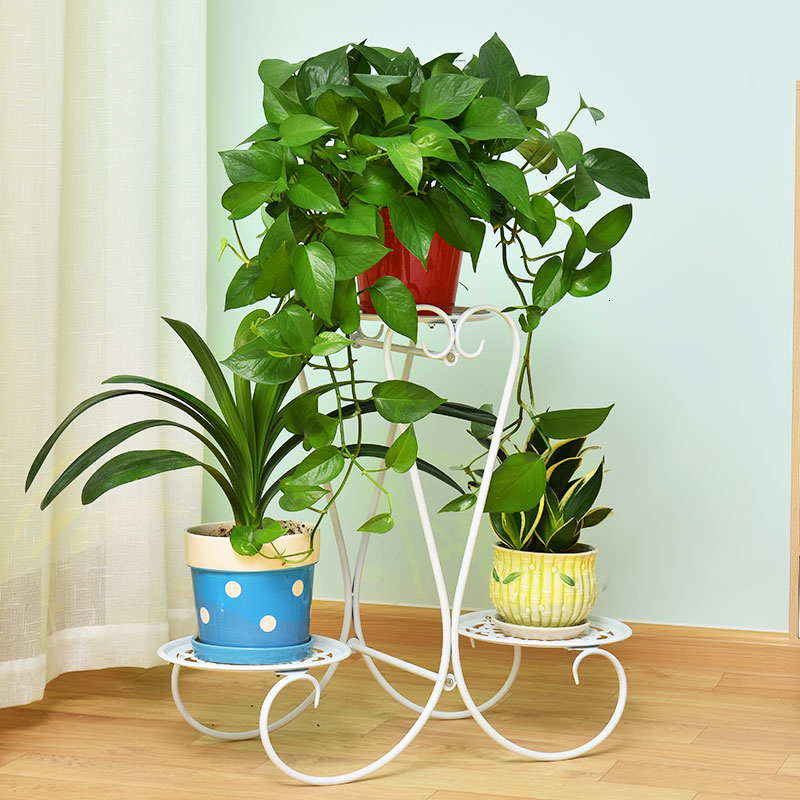 Art Multi-storey Indoor Balcony A Living Room Province Space Landing Type Green Luo Decorate Frame Flowerpot Frame Flower Airs