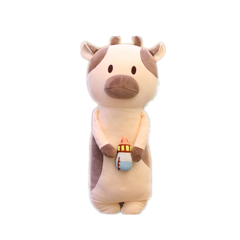 Hot Toys Kawaii Cattle 50cm Bubble Cup long Pillow Real-Life Stuffed Soft Back Cushion Funny Food Gifts For Kids Birthday