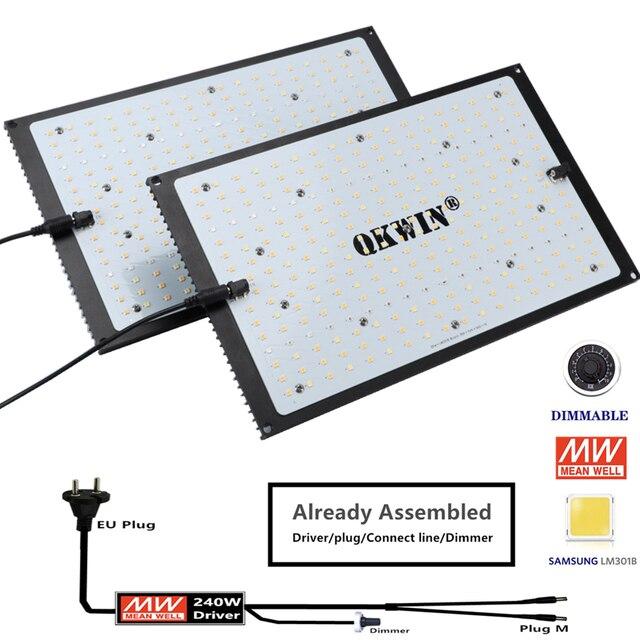 Предварительная продажа 120 Вт 240 Вт светодиодная световая доска Samsung LM301B QB, встроенная с 3000K 5000K 660nm IR полный спектр DIY MW драйвер