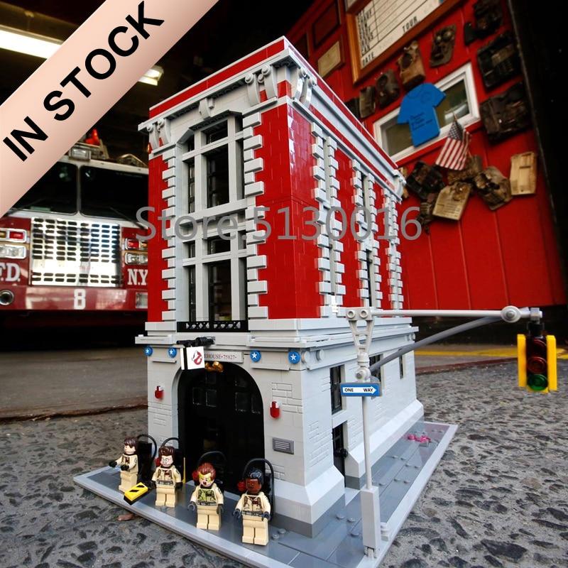 16001 In Stock Creator Ghostbusters Firehouse 75827 4705Pcs Street View Model Building Kits Blocks Bricks Education Toys