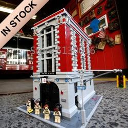 16001 In Voorraad Schepper Ghostbusters Firehouse 75827 4705Pcs Street View Model Building Kits Bakstenen Blokken Onderwijs Speelgoed