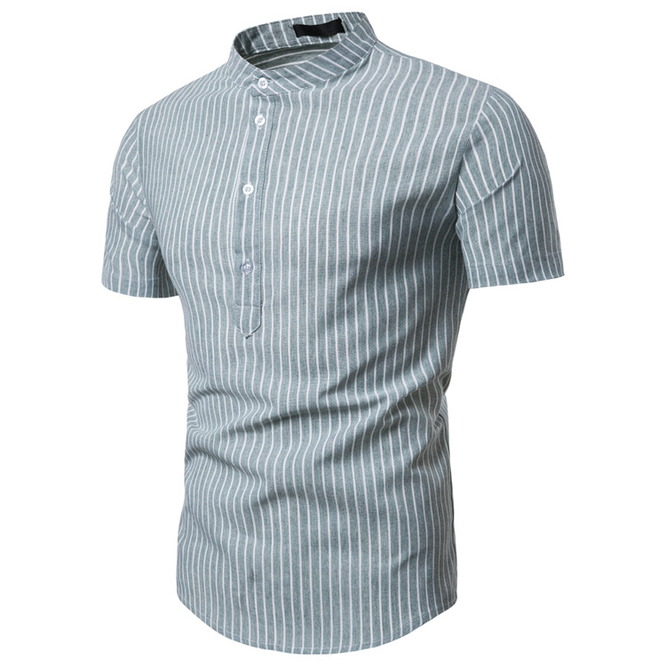 Cotton Shirt  Casual Short Sleeve Shirts Soft Comfort Slim Male Clothes