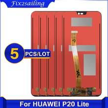 5 sztuk 2280*1080 nowy oryginalny wyświetlacz LCD do HUAWEI P20 Lite ekran Lcd zgromadzenie dla HUAWEI P20 Lite ANE-LX1 ANE-LX3 Nova 3e LCD