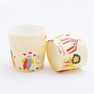 50 шт. мультяшный Цирк Клоун Маффин кекс бумажный стаканчик маслостойкий Кекс лайнер чашка для выпечки чехол обертка для кекса на день рожде...