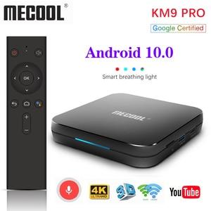Image 3 - Max 4GB RAM 128GB ROM Mecool Android TV 10.0 KM3 TV kutusu Android 9.0 Google sertifikalı S905X2 4K akıllı medya oynatıcı KM9 PRO ATV