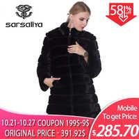 Real Mink Fur Coat Winter Long Natural Fur Mink Coats And Jacket Black Transformer Warm Women Clothes 2019 Vintage Plus Size 7XL