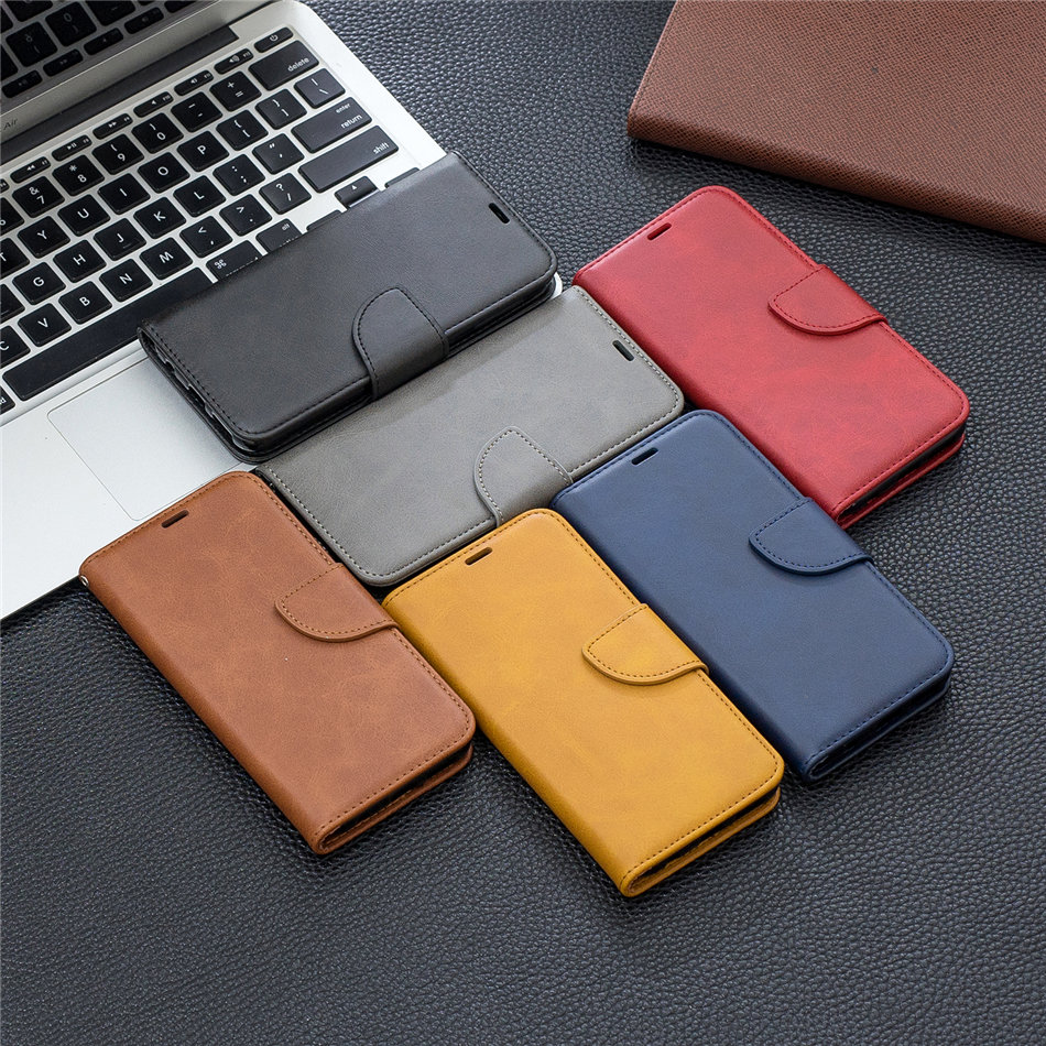 Leather Mobile Phone <font><b>Case</b></font> For <font><b>Samsung</b></font> Galaxy S10E Plus S20 Ultra A10 A10S <font><b>A20S</b></font> <font><b>A20E</b></font> A40 A50 A51 A70 A71 Wallet Card Cover O07F image