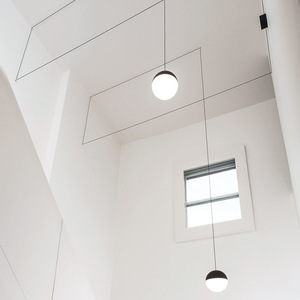 Image 3 - Lukloy Nachtkastje Moderne Hanglamp Led Draad Schorsing Lichten Kroonluchter Loft Decor Keuken Eiland Glazen Bol Lampen Met Hangers