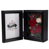 Light Photo Frame Home Bedroom Decor Creative Valentines Day Gift Preserved Flower Eternal Rose Christmas Present