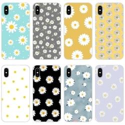 Аксессуары чехлы для телефонов Xiaomi Mi4 Mi5 Mi5S Mi6 Mi A1 A2 A3 5X 6X 8 CC 9 T Lite SE Pro прекрасная белая Маргаритка с цветком
