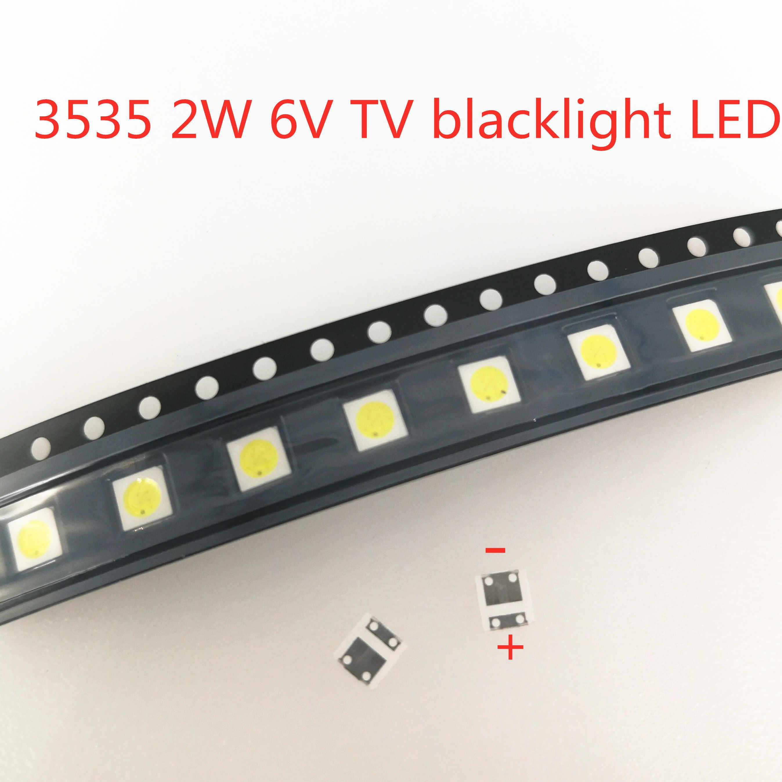 100 piezas para LG Innotek LED nuevo y Original LED 2W 6V 3535 Cool blanco LCD retroiluminación para la aplicación de TV cuentas de luz LED al por mayor