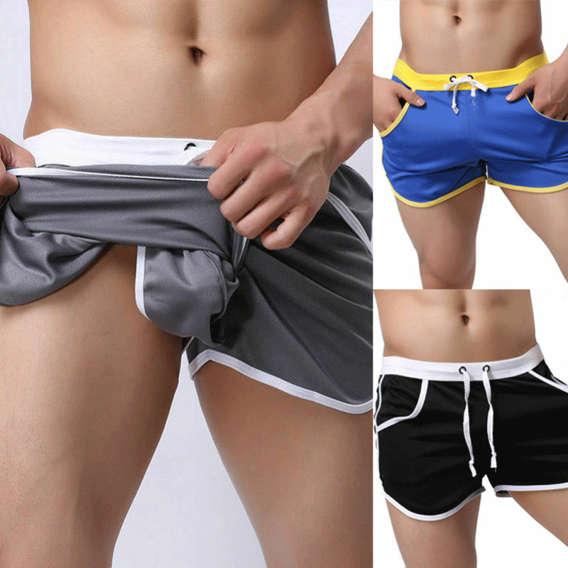 NEW Men Summer Beach Casual Shorts Athletic Sports Soft Training Swimwear Short 2020
