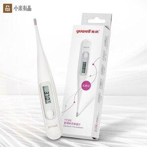 Image 1 - Youpin Yuwell גבוהה רגישות LED רפואי חשמלי מדחום תזכורת חום פה/השחי רך ראש מדחום למבוגרים Ba