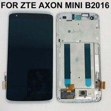 100% testado bem amoled lcd para zte axon mini b2016 display com tela de toque digiziter frete grátis com quadro