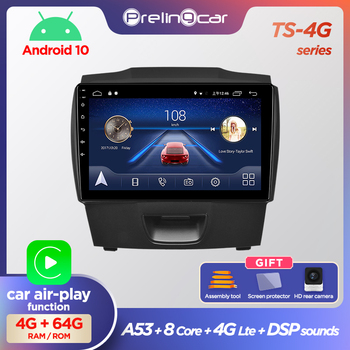 Prelingcar Android 10 NO DVD 2 Din Car Radio Multimedia Video Player Navigation GPS For chevrolet colorado isuzu D-MAX D-MUX 4G image