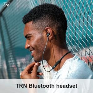 Image 2 - TRN سماعة رأس لاسلكية تعمل بالبلوتوث AS10 مع شريحة CSR8645 ، وسماعة رأس استريو مقاومة للماء IPX7 للرياضة والجري و HiFi مع ميكروفون TRNVX M10