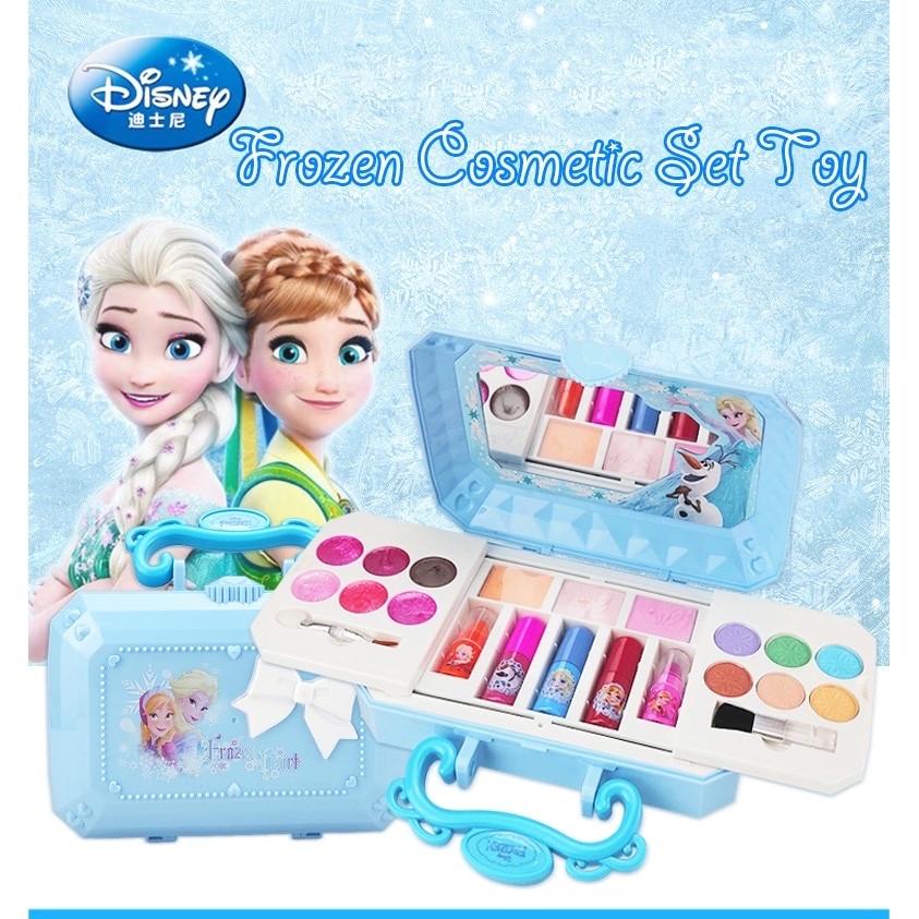 Disney meninas congelados princesa elsa cosméticos compõem conjunto polonês beleza maquiagem caixa com caixa original crianças presente de natal