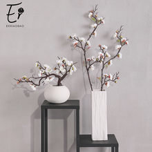 Erxiaobao Pink White Red Wintersweet Plum Blossom Artificial Flowers Fake Cherry Silk Plants Party Wedding Home Decor