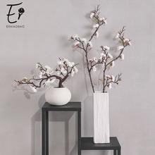 Erxiaobao الوردي الأبيض الأحمر Wintersweet زهر البرقوق الزهور الاصطناعية وهمية الكرز الحرير النباتات حفلة ديكور منزلي للزفاف