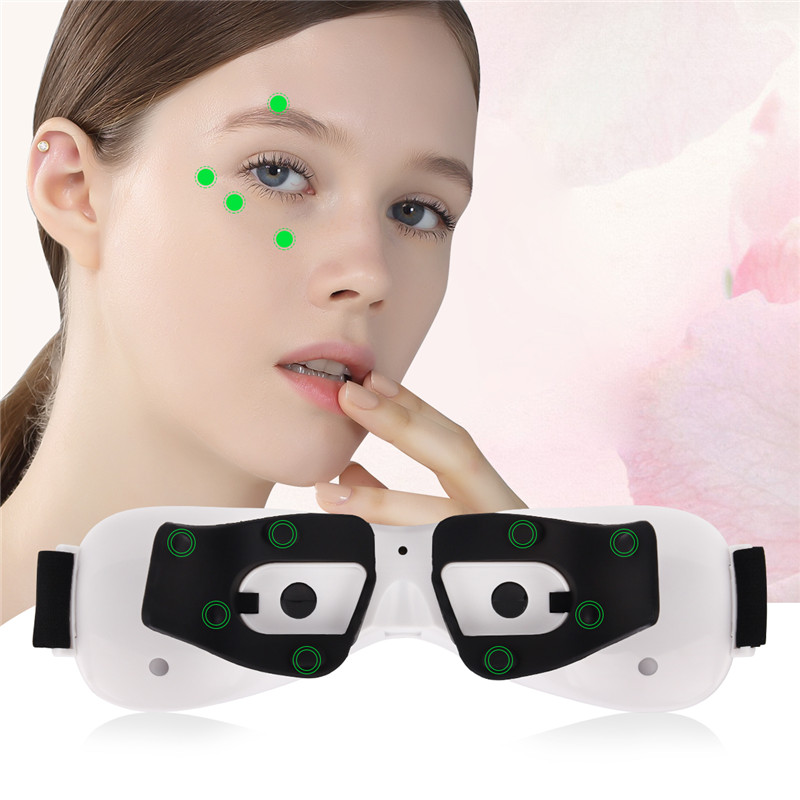 Electric Eye Massager Acupuncture Vibration Eyes Massage Tool Wrinkle Fatigue Relieve Dark Circles Remove USB Rechargeable 45