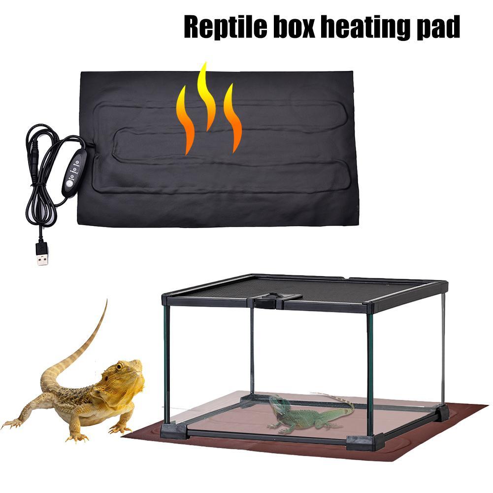 USB Charging Reptiles Heat Mat Climbing Pet PU Heating Warm Pads Adjustable Temperature Controller Mats Reptiles Supplies