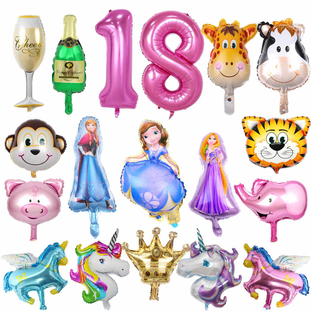 Hot Cartoon Balloon Unicorn Princess Minnie Mouse Aluminum Balloon